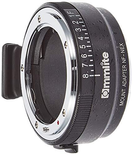 Commlite cm-nf-nex Cable Camera Lens Adapter Adaptor for Photo Lens (Nikon Al, Nikon Ai-S, Nikon D, Nikon F, Nikon G, E Mount, Black, Silver, Aluminium, Sony E-Mount, 168g)