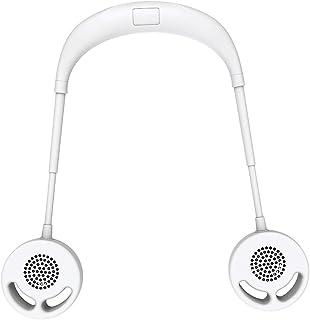 WYXR Colgando Ventilador De Cuello Al Aire Libre Sin Hojas Mini Abanico Portátil USB Cuello Colgante Aire Acondicionado Perezoso Colgando Doble Enfriamiento,C