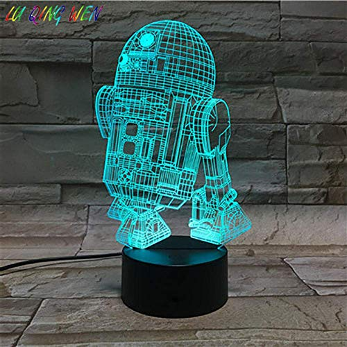 3D Illusion Lamp Led Night Light Astromech Droid Robot R2 D2 Star Wars Kids Children Gift Home Decoration Table Lamp Star Wars Robot R2D2