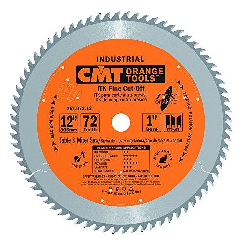 CMT 252.072.12 ITK Industrial Fine Cut-Off Saw Blade, 12-Inch x 72 Teeth 1FTG+2ATB Grind with 1-Inch Bore