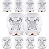 Chinese Lanterns (10-Pack) ECO Friendly Paper Lanterns, Sky Lanterns 100% Biodegradable - Beautiful Lantern for Weddings, Birthdays, Memorials and Much More