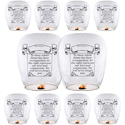 Chinese Lanterns (10-Pack) ECO Friendly Paper Lanterns, Chinese Lanterns 100% Biodegradable - Beautiful Lantern for White for Weddings, Birthdays, Memorials and Much More