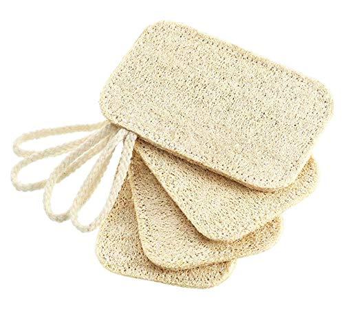 loofah esponjas platos,Esponja natural para lavar plato,Esponja Luffa Natural,Esponja de esponja vegetal,Natural Esponja (4 piezas)
