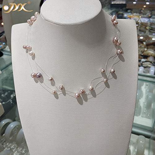 Zozu Natural Light Lavender National uniform free shipping Babysbreath three necklace Popular overseas pearl str