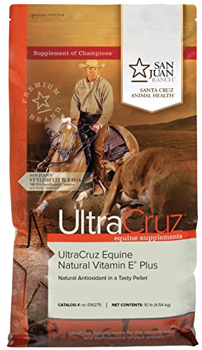 UltraCruz Equine Natural Vitamin E Plus Supplement for Horses, 10 lb, Pellet (66 Day Supply)