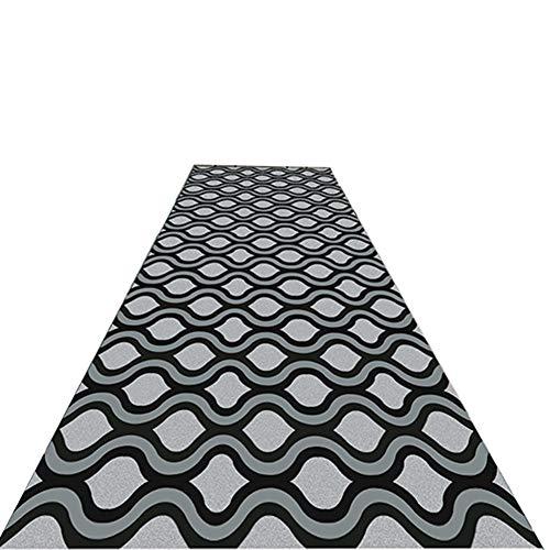 Moderna Interna Disimpegno, Cucina Collezione Tappeti Area - Black Pattern Carpet Design for Ingresso Corridoio Passerella Zerbini, 80cm/100cm/120cm di Larghezza (Size : 0.9x7m)