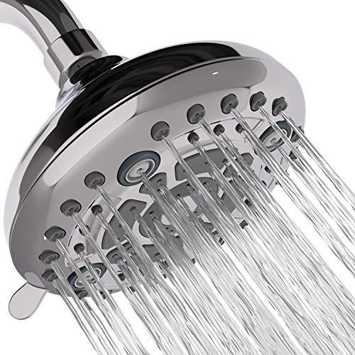 Aqua Earth Fixed Shower Head   High Pressure Showerhead 6 Spray Settings 5 inch Adjustable Shower Head Saturating massage bubbling saturatingampmassage saturatingampbubbling water saving spray