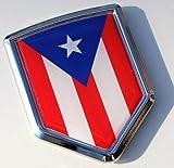 Car Chrome Decals CBSHD171 Puerto Rico Decal Flag Car Chrome Emblem Sticker Bumper Badge Puerto Rican 3D
