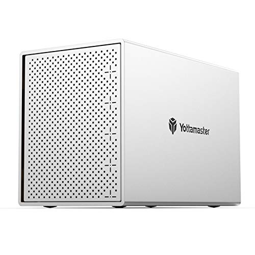 """Yottamaster Aluminum Alloy 5 Bay USB3.0 2.5""""/3.5"""" External Hard Drive RAID Enclosure for 2.5/3.5 Inch SATA HDD Support 5 x 16TB & UASP,Ideal for Personal Storage at Home&Office- [PS500RU3]"""