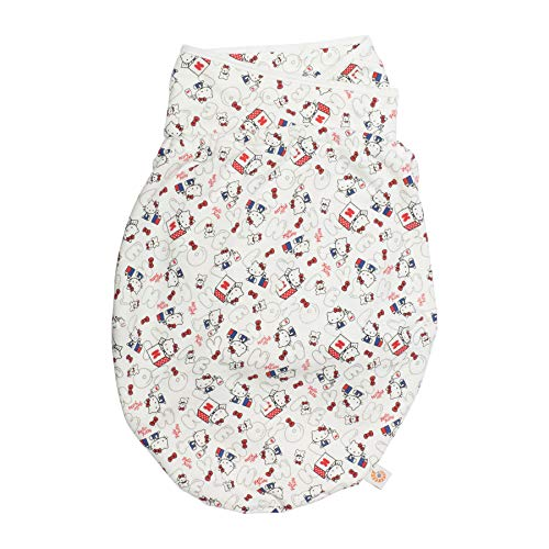 Ergobaby Swaddle Wrap, Slaapzak met Hip Positioner en Arm Pouches, verschillende kleuren Hello Kitty - Hoofd in de wolken