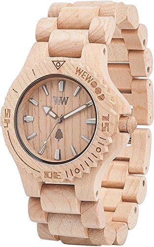 WeWOOD reloj madera/madera FECHA Beige 9818025hombre [Regular importados]