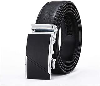 Men Belt Automatic Belt Black Male Buckle Leather Business Waist Strap Belt