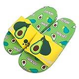 Yinbwol Boys Girls Slide Sandals Kids Cute Fruit Slippers Non-Slip Slide Summer Beach Shower Pool Water Shoes (Toddler/Little Kids/Big Kids) (Avocado#2, numeric_2)