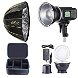 Flashpoint XPLOR 600 HSS Battery-Powered Monolight with Built-in R2 2.4GHz Radio Remote System - Bowens Mount (AD600) + Glow EZ Lock Deep Parabolic Quick Softbox (48