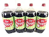 4 Pack Dr Pepper Made with Real Sugar - 2 Liter (Not Dublin)