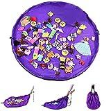 Nuluxi Spielmatte Speicher Tasche Kinder Spielmatte Aufräumsack Spielzeug Beutel Aufräumsack