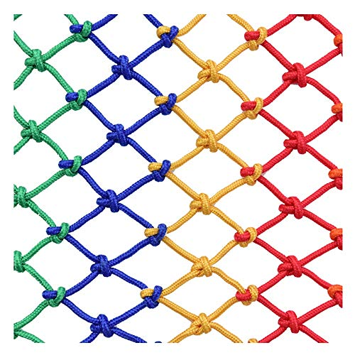HWJ Kindergeländer Sicherheitsnetz Treppen Bruchsicheres Netz Schutznetz Deckennetz Trennnetz Innendekoration Netzfarbe Nylon Seilnetz Fotowand (Size : 1x10m)