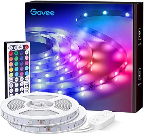 Govee LED Strip, 2 Rollen von 10m RGB LED Streifen Lichtband mit Fernbedienung, für Schlafzimmer, Decke, Küche, Schrank, 24V