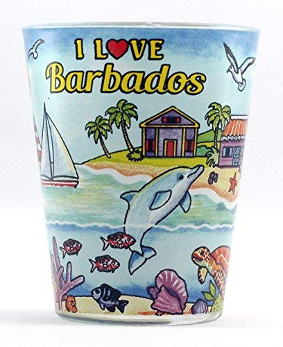 Barbados I Love Barbados All-Around Shot Glass agc