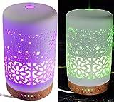 GXZOCK Aroma Diffuser, 120ml Luftbefeuchter Ultraschall Duftlampe Atomization Elektrisch Diffusor mit 7 Farben LED Ätherische Öle Luftbefeuchter für zuhause, Yoga, Büro, SPA, Schlafzimmer