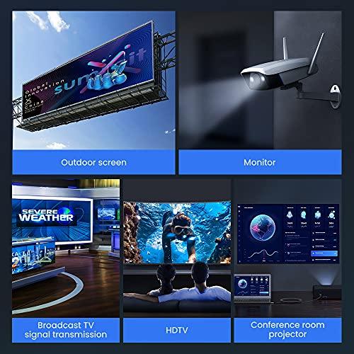 HDMI Kabel 4K 120Hz + 8K 60 Hz   HDMI 2.1 Kabel 2M-Snowkids 8K@60HZ&4K@120HZ HDMI 2.1 Ethernet Kabel 7680P mit eARC Dolby Vision 48Gbps Dynamischer HDR HDCP 2.3 kompatible mit PS5, PS4, HDTV, PC - 6