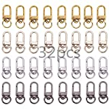 WEISHENG 32 Pieces Metal Lobster Claw Clasps Swivel LanyardsTrigger Snap Hooks Strap for Keychain, Key Rings,DIY Jewelry Making Bracelet Necklace Findings(4 Colors)