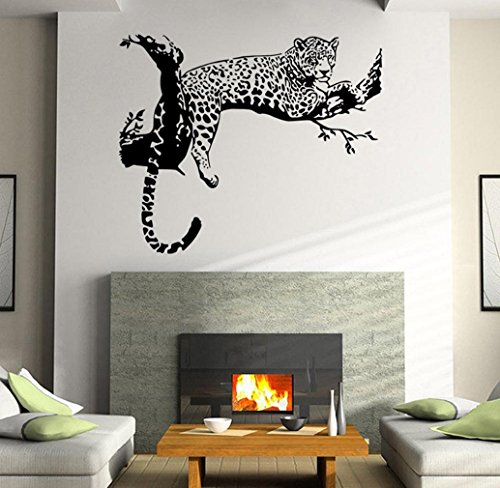 Tonsee Wandsticker Leopard Wohnzimmer Schlafzimmer Dekoration herausnehmbare Poster Tapete