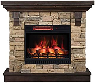 ClassicFlame Eugene Wall Mantel, Aged Coffee.