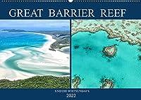 Great Barrier Reef und die Whitsundays (Wandkalender 2022 DIN A2 quer): Traumstraende und das bekannteste Riff der Welt in einem Kalender (Monatskalender, 14 Seiten )