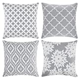 baceight Throw Pillow Covers 20x20 Inch Decorative Soft Hypoallergenic Pillow Covers Pattern Square Farmhouse Pillow Covers Set of 4 Throw Pillow Shams for Sofa Couch Bed