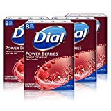 Dial Skin Care Bar Soap, Power Berries, 32 Bars