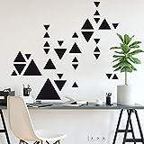 Sticker Planche De Forme Géométriques - Triangles - Planche de 55 Stickers - Masking Tape - Noir - Mat - Adhésifs