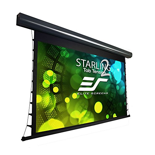 Elite Screens Starling Tab-Tension 2, 135' 16:9, 6' Drop, Tensioned Electric Motorized Projector Screen, STT135UWH2-E6