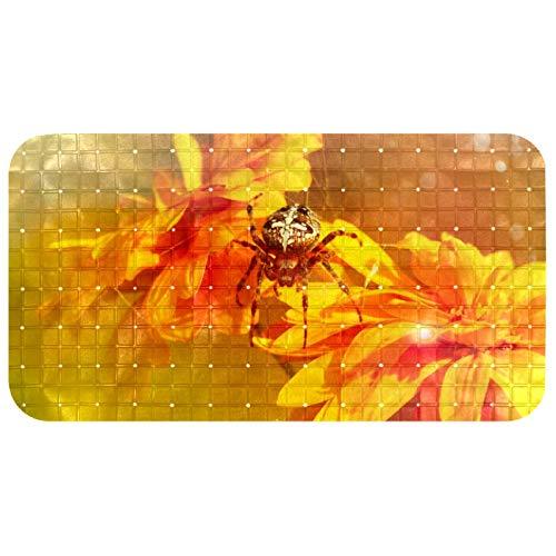 Wetia Wanneneinlage Anti-Rutsch Badematte PVC Karikatur Entwurf Massage Badematte mit Saugnäpfen für Spinnen-Chrysantheme Sun Golden Baby Kinder 38 x 69 cm 38 X 69 cm