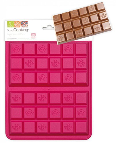 SCRAP COOKING 3147 Moule - 2 Tablettes, Silicone, Rose, 25 x 17,5 x 1,5 cm
