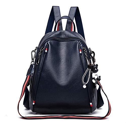 BUKESIYI Damen Tasche Rucksack Handtasche Frauen backpack Klein Anti Diebstahl Schulrucksack Laptop Weekender PU Leder CCDE78183 Blau