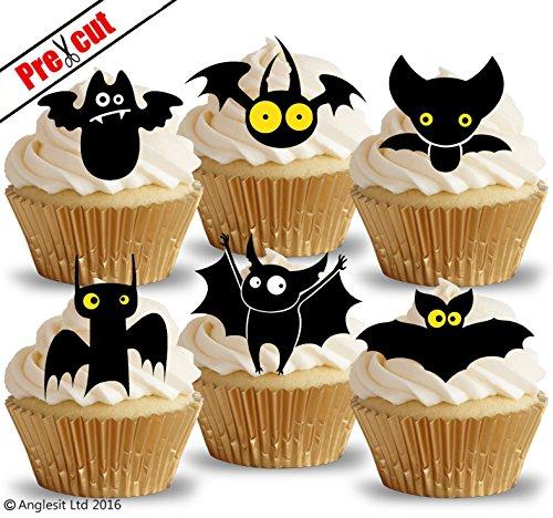 vorgeschnittenen Funny Fledermäuse essbarem Reispapier/Waffel Papier Cupcake Kuchen Topper Halloween Party Geburtstag Dekorationen
