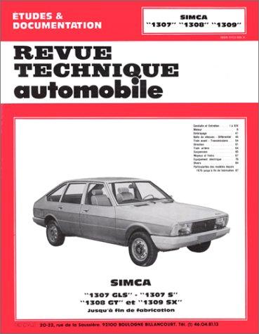 E.T.A.I - Revue Technique Automobile 355.3 - TALBOT SIMCA - 1301/1307/1308/1309 - 1970 à 1979
