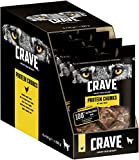 Crave Hundesnacks Protein Chunks mit 100% natürlichem Huhn, 6 Packungen (6 x 55 g)