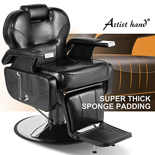 Artist Hand Barber Chair Hydraulic Recline Barber Chairs Salon Chair for Hair Stylist Tattoo Chair...