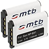2X Batteries NP-BX1 pour Sony Actioncam AS10, AS15, AS20, AS30, AS50, AS100V, AS200V,...