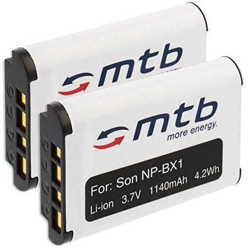 2X Batería NP-BX1 Compatible con Sony HDR-AS. Action-CAM/Cyber-Shot DSC-H400, HX50./ RX100.(Ver descripción)