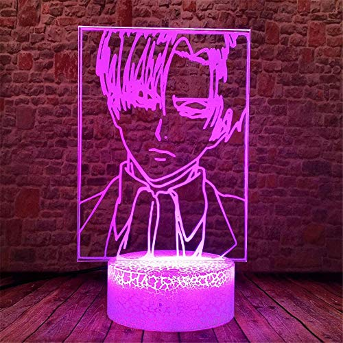 Attack on Titan 3D Night Light Lamp Controller with Remote Control Touch 16 Color Changing Desk Lamps Kids Room Decor Birthday Gifts for Toddlers Boys Child