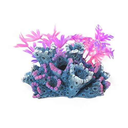 Blue Ribbon Récif Fantaisie avec Plantes/Ornement pour Cuves à Poissons/Aquariums