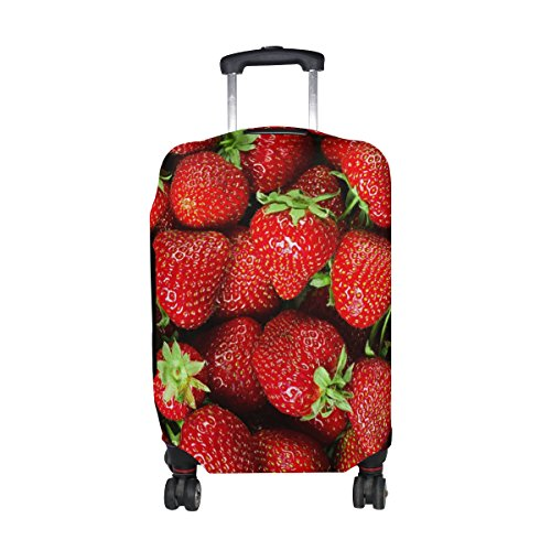 Find Discount ALAZA 3D Fresh Strawberry Luggage Cover Elastic Suitcase Protector for Women Men Fits ...