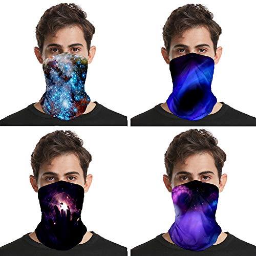 Unisex Naadloze Novelty bandana, Multifunctional Gaiter Tube Magic sjaal Headwear, Motorcycle Face Mask, voor Vrouwen Mannen Gezicht Sjaal Vissen Mask, 4 stuks