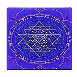 Cojines de Suelo Cuadrados,Cojín de Asiento de cojín de Silla,Mandala Diseño Color con Geometría Sagrada Sri Yantra Lotus Aislado sobre,Sentado para Oficina,hogar,Suave Espesar