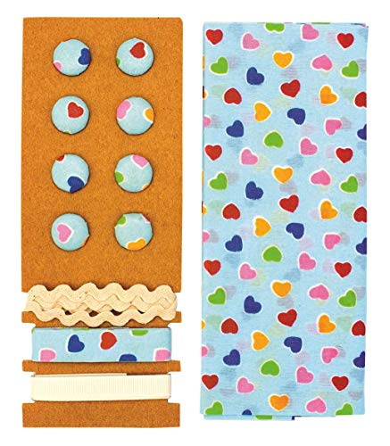 GLOREX Kit Textile, Polyester, Multicolore, 24,5 x 17,6 x 0,5 cm