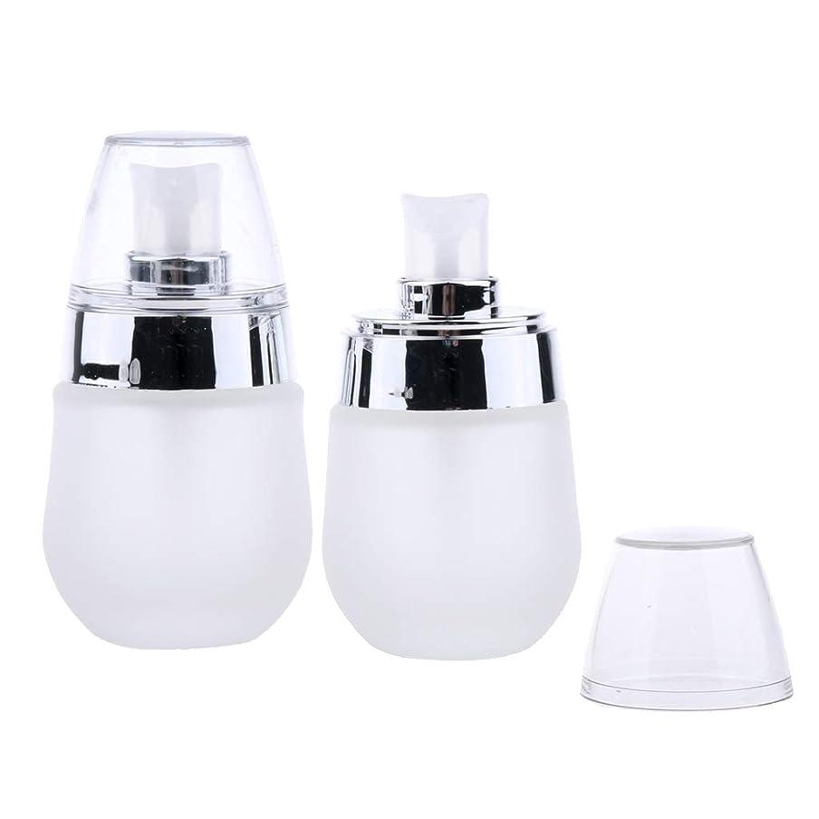 先見の明影響する蒸発するFLAMEER 2個 ポンプスプレーボトル 30ミリリットル ガラス 再充填可能 3色選べ - スライバポンプ