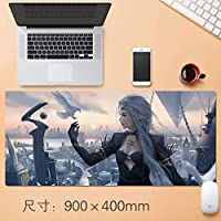 拡張大型プロフェッショナルゲーミングマウスパッドクリエイティブ厚みのゲームテーブルマットホームオフィスすべり止めラバーベース耐水性デスクマットのノートパソコンのキーボードパッドステッチエッジのアニメファンのギフト90 * 40センチメートル (サイズ : Thickness: 4mm)
